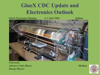 GlueX CDC Update and Electronics Outlook