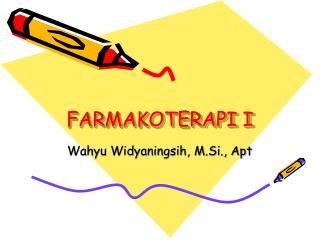 FARMAKOTERAPI I