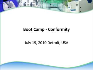 Boot Camp - Conformity