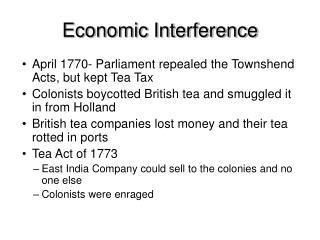 Economic Interference