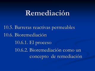Remediación