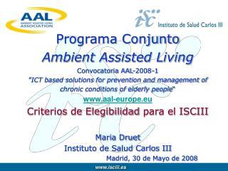 Ahora :  Solicitud del Proyecto Trasnacional a AAL en su aplicación Telemática.