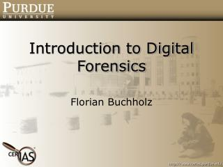 Introduction to Digital Forensics