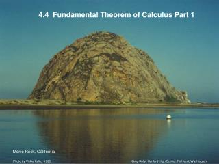 4.4  Fundamental Theorem of Calculus Part 1