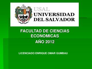 FACULTAD DE CIENCIAS ECONOMICAS AÑO 2012