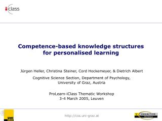 Competence-based knowledge structures for personalised learning