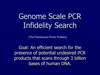 Genome Scale PCR Infidelity Search