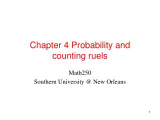 Chapter 4 Probability and counting ruels
