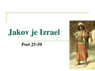 Jakov je Izrael