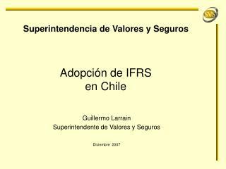 Adopción de IFRS  en Chile