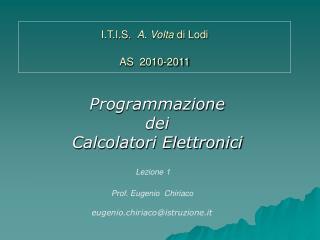 I.T.I.S.   A. Volta  di Lodi AS  2010-2011