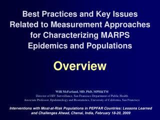 Willi McFarland, MD, PhD, MPH&TM