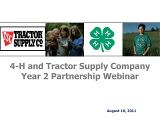 4-H and Tractor Supply Company Year 2 Partnership Webinar