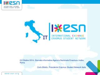 23 Ottobre 2014, Giornata informativa Agenzia Nazionale  Erasmus+  Indire, Roma