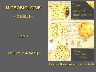 MICROBIOLOGIE - DEEL I -