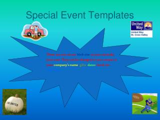 Special Event Templates
