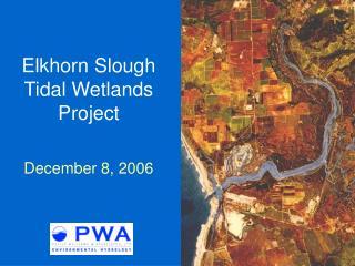 Elkhorn Slough Tidal Wetlands Project