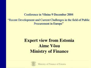 Ministry of Finance of Estonia