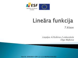 Lineāra funkcija