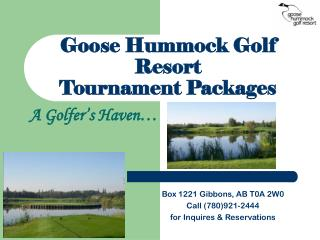 Goose Hummock Golf Resort