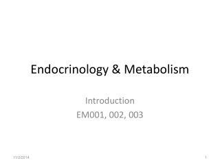 Endocrinology & Metabolism