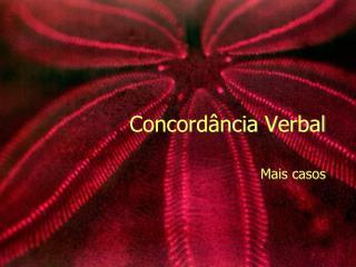Concord ância Verbal