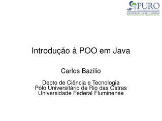 Introdução à POO em Java