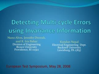 Detecting Multi-cycle Errors using Invariance Information