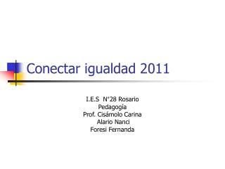 Conectar igualdad 2011
