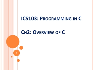 C Language Elements:  Preprocessor Directives