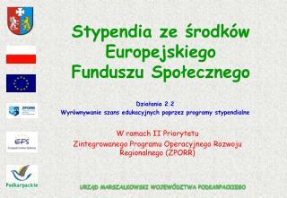 Stypendia ze środków Europejskiego Funduszu Społecznego