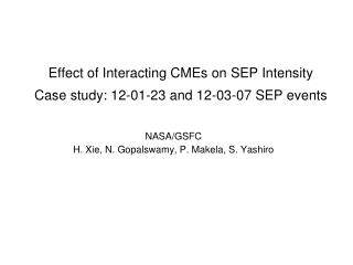 Effect of Interacting CMEs on SEP Intensity  Case study: 12-01-23 and 12-03-07 SEP events