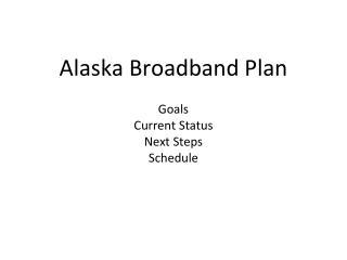 Alaska Broadband Plan