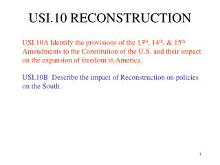 USI.10 RECONSTRUCTION