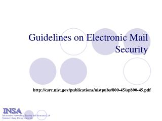 Guidelines on Electronic Mail Security