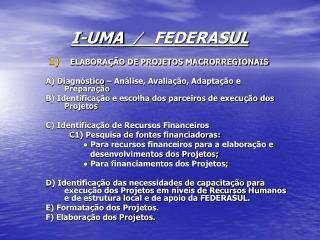 I-UMA   ∕   FEDERASUL