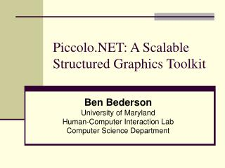 Piccolo.NET: A Scalable Structured Graphics Toolkit