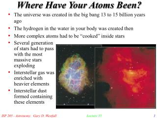 Where Have Your Atoms Been?