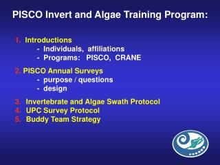 PISCO Invert and Algae Training Program: