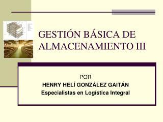 GESTIÓN BÁSICA DE ALMACENAMIENTO III
