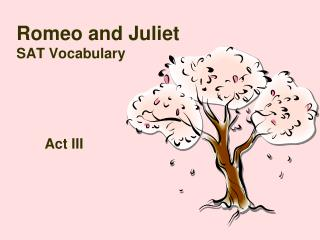 Romeo and Juliet SAT Vocabulary
