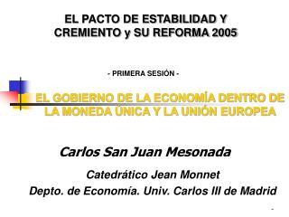 Carlos San Juan Mesonada