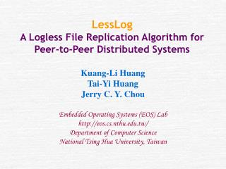 LessLog A Logless File Replication Algorithm for Peer-to-Peer Distributed Systems
