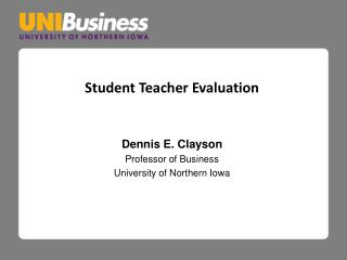 Student Teacher Evaluation
