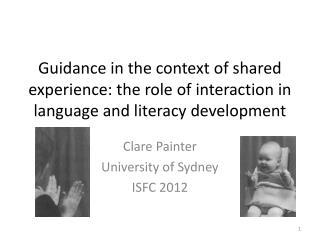 Clare Painter University of Sydney ISFC 2012