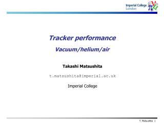 Tracker performance