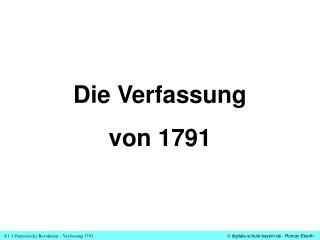Die Verfassung von 1791