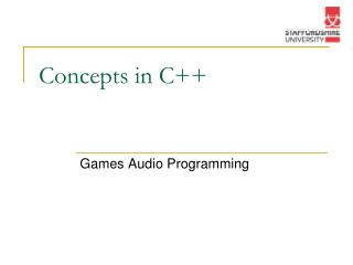 Concepts in C++