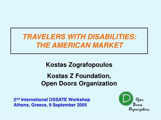 TRAVELERS WITH DISABILITIES: