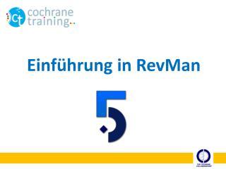 Einführung in RevMan
